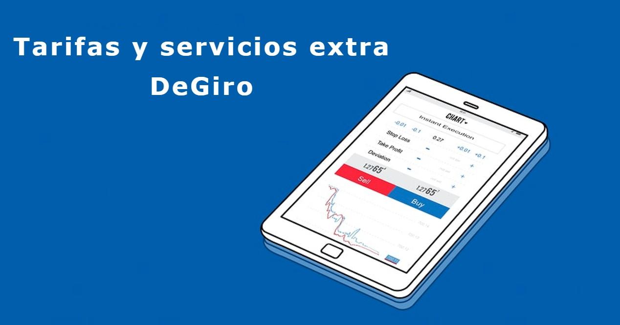 Tarifas y servicios extra en DeGiro