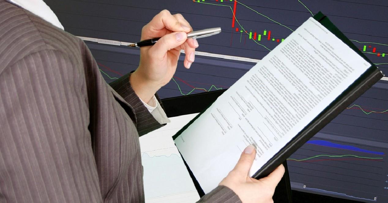Semana terminada reportes financieros